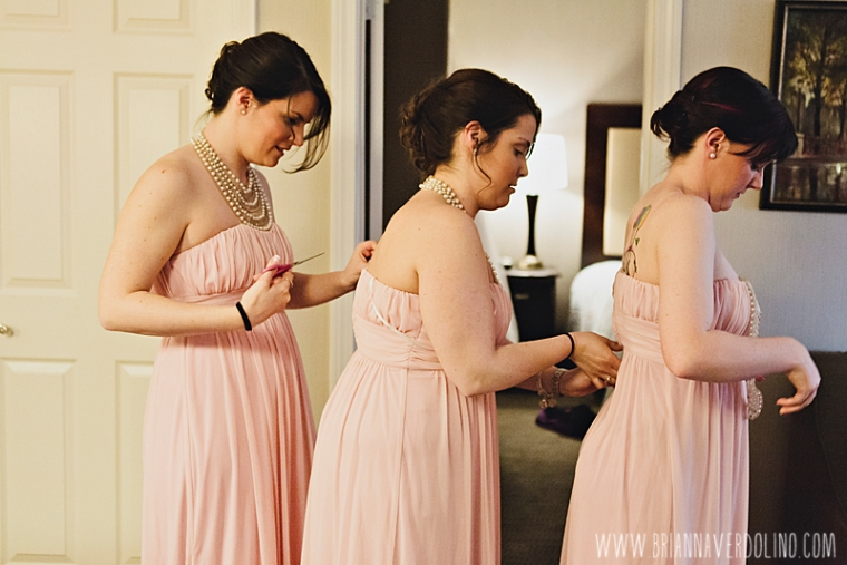 Sterling Massachusetts Wedding Photographer Chocksett Inn Pink Blush Gold Vintage Old Hollywood Wedding Bridesmaids Dresses