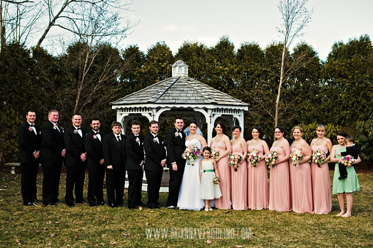 Sterling Massachusetts Wedding Photographer Chocksett Inn Pink Blush Gold Vintage Old Hollywood Wedding Wedding Party Portrait Bridesmaids Groomsmen
