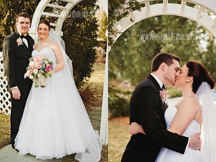 Sterling Massachusetts Wedding Photographer Chocksett Inn Pink Blush Gold Vintage Old Hollywood Wedding Trellace Kiss Portrait Romantic