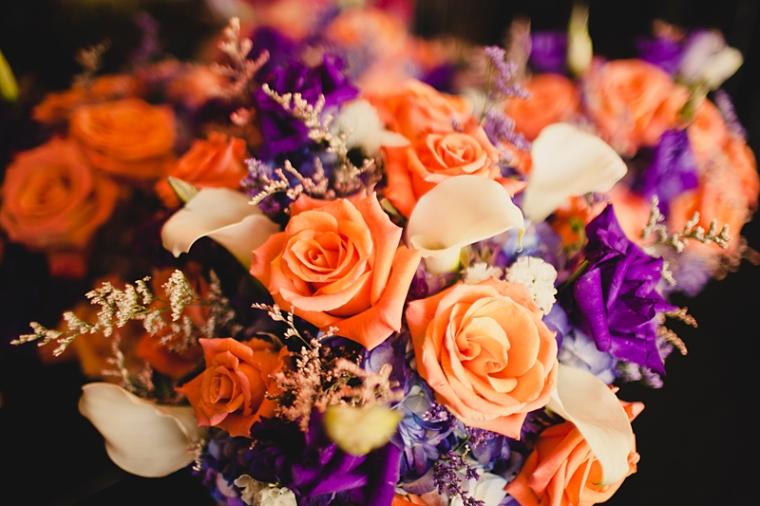 Worcester Northbridge Sutton Wedding Photographer, Brianna Verdolino Photography, Storytelling, Coral and Eggplant Flower Arrangement Photograph