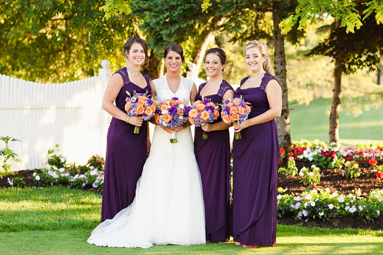 Worcester Northbridge Sutton Wedding Photographer, Brianna Verdolino Photography, Storytelling, Large wedding party, eggplant and coral, mismatched groomsmen, Pleasant Valley Country Club